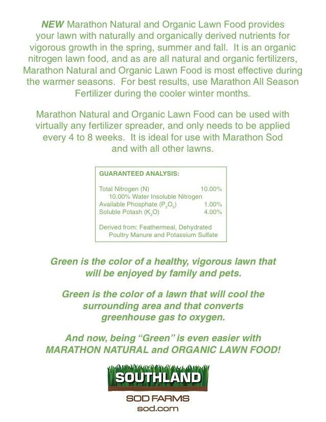 marathon natural and organic food